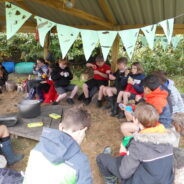 Year 6 outdoor classroom cooking